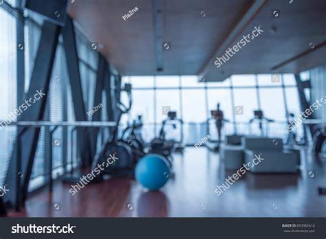 Abstract For Fitness Running 1 run modern luxury fitness center stock photo 603982616