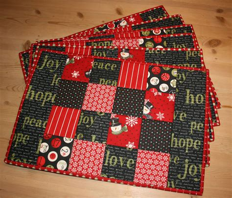 How To Make Quilted Placemats by By Our New Placemats