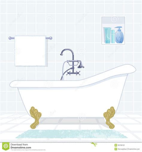 Style Bathtub by Bathroom With Vintage Style Bathtub Stock Image Image