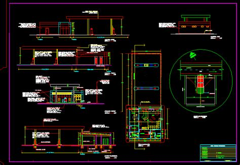simple service station dwg block  autocad designs cad