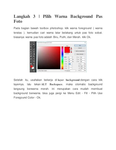 cara membuat latar belakang warna di photoshop cs3 cara membuat pas foto dengan photoshop