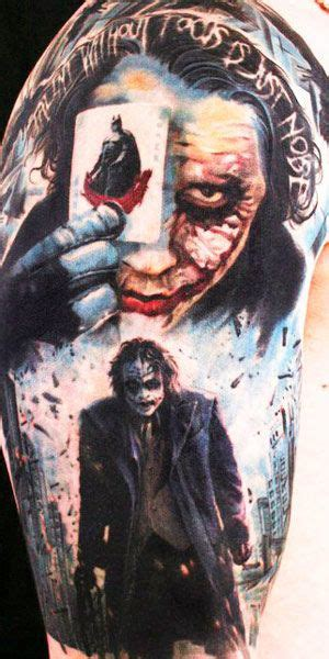 heath ledger joker tattoo designs batman tattoos the top 40 batman designs