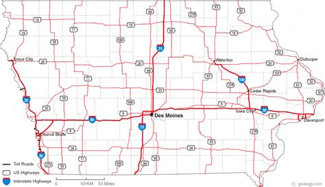 iowa state map map of iowa