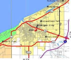 Map Of Indiana And Michigan by Michigan City Indiana Images