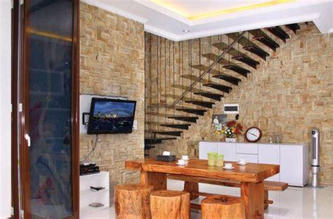desain dapur pakai batu alam desain interior rumah minimalis menggunakan mosaik batu alam
