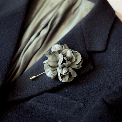 khaki green flower men boutonniere buttonhole for