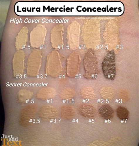laura geller cover foundation swatches makeup forever full cover concealer review temptalia