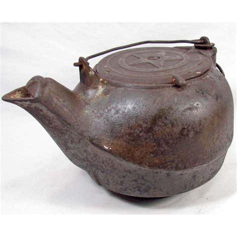 antique cast iron vintage cast iron tea kettle