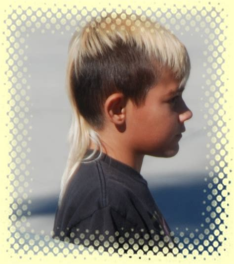 mohawk with tail hair cut boys with mullet or rattail hairstyles more boys with