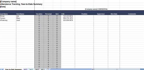 2011 Employee Attendance Tracker 2011 Employee Attendance Calendar Employee Attendance Tracker Template
