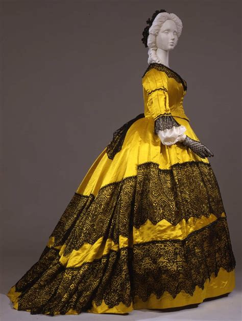 Beaded Style Dress Yellowblack 27870 17 best images about 1860s s fashion on day dresses museums and silk satin