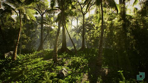 Plants In The Tropical Rain Forest - low poly rainforest pack by dokyo in environments ue4 marketplace
