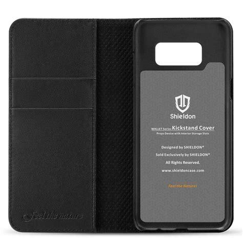 Leather Stitching Premium For Samsung S8 Plus Handphone shieldon galaxy s8 plus genuine leather wallet samsung s8