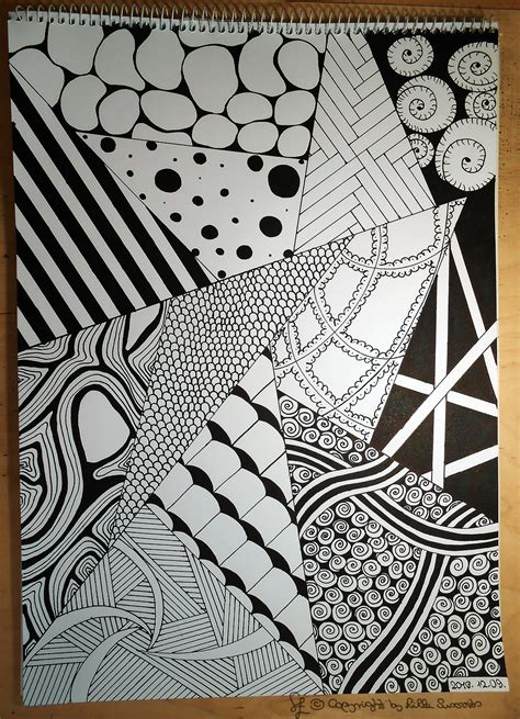 pattern for drawing around zentangle drawing draw pen black white paper