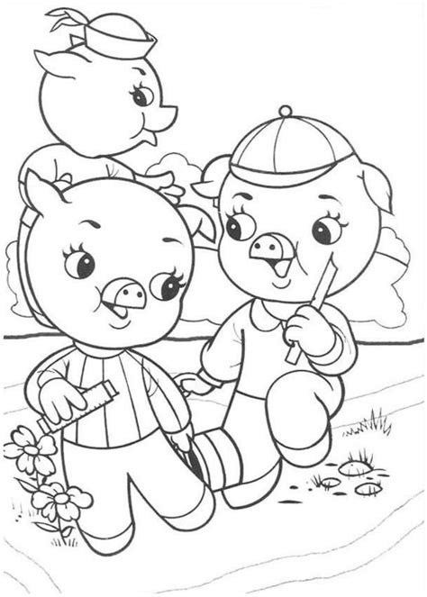 on fairy tales three little pigs coloring sheets coloring