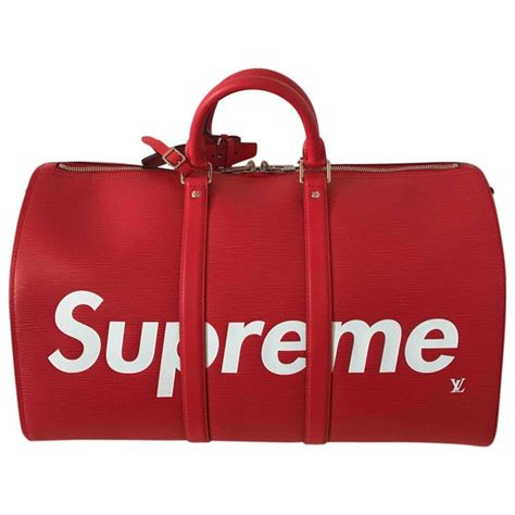 supreme bag leather louis vuitton x supreme bag vestiaire collective