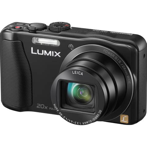 lumix dmc panasonic lumix dmc zs25 digital black dmc zs25k b h
