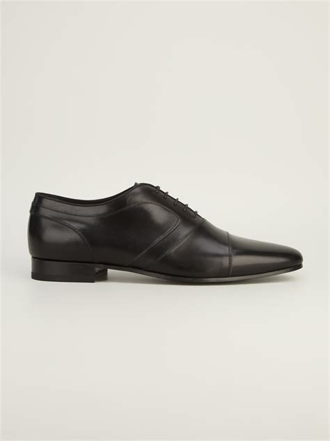oxford classic shoes lyst laurent classic oxford shoes in black for