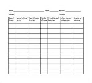 Service Record Template by Sle Service Hour Form 13 Free Documents In
