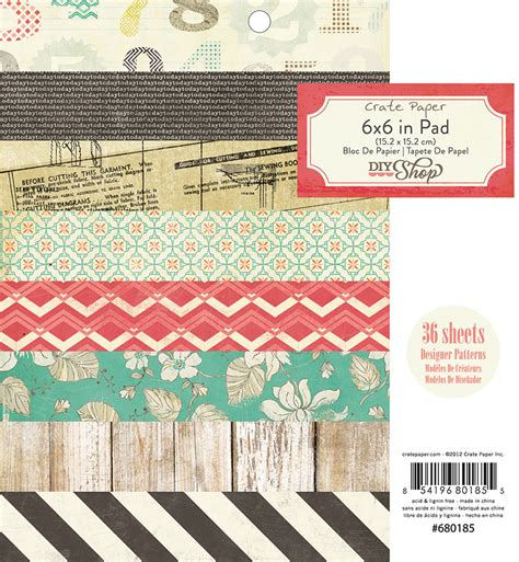 american craft paper american crafts crate paper diy shop collection 6 x