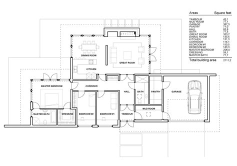 floor plan of a modern house contemporary one story house plans modern one story house