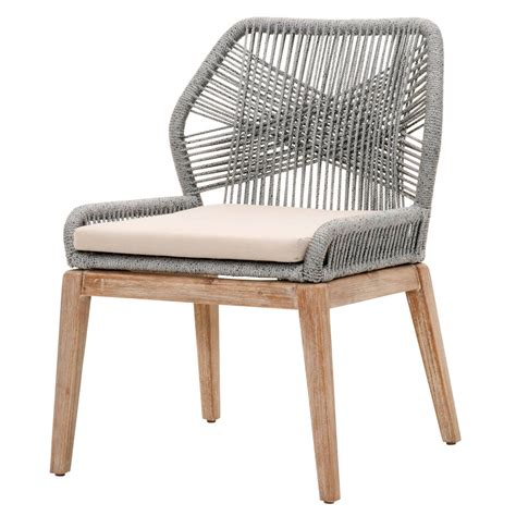 Wicker Dining Chair by New Wicker Bloom Platinum Rope Dining Chair Set Of 2