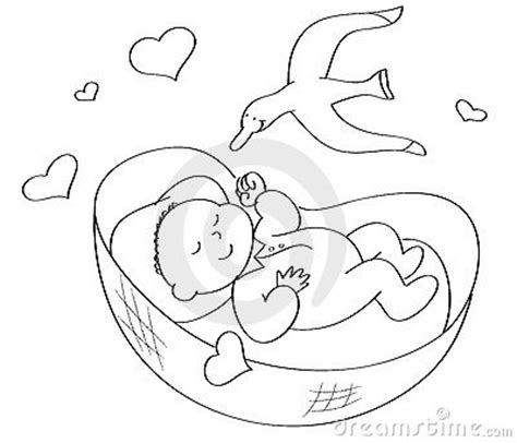 coloring pages sleeping baby coloring baby sleeping stock image image 6584971