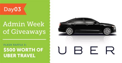 Does Uber Have Gift Cards - flash raffle 3 win a 500 uber gift card and travel in style