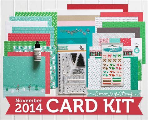 card kits for november 2014 card kit reveal simon says st