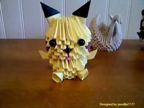 3d origami pichu tutorial 3d origami pikachu youtube
