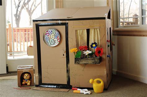 cardboard house rust sunshine cardboard playhouse