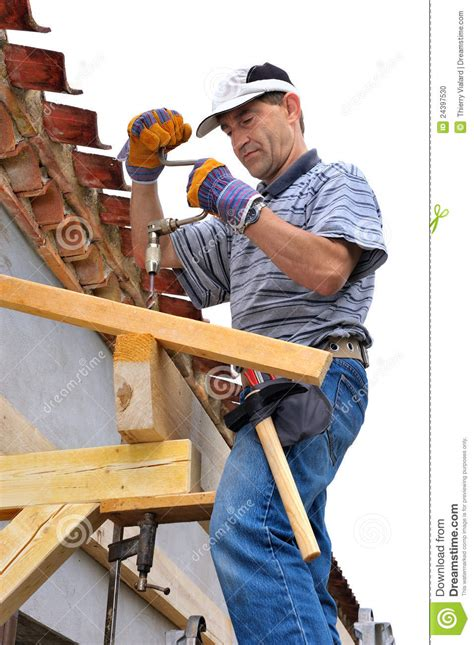 woodworking carpenter stock photo image  eaves people