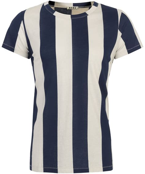 lyst acne studios navy hardy vertical stripe t shirt in