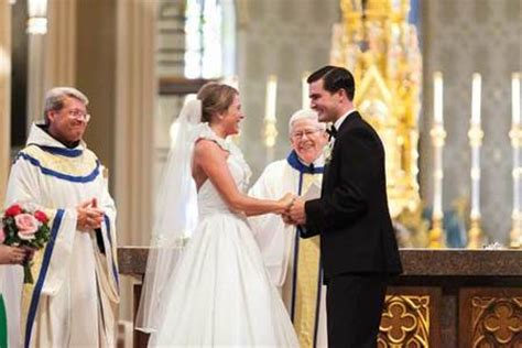 Wedding Blessing Priest by The Wedding Priest News Notre Dame Magazine