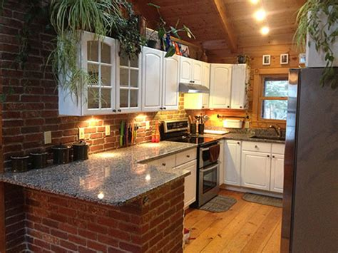 brick kitchen interior brick veneer made from real bricks from