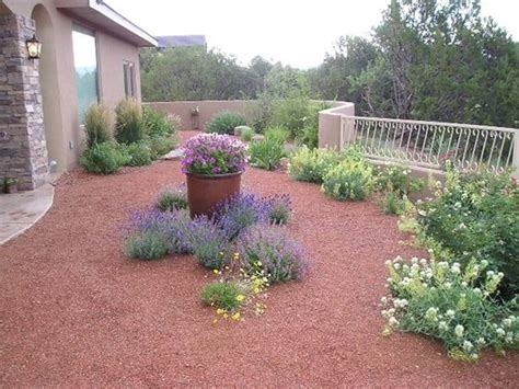 backyard gravel landscaping gravel mulch xeriscape southwestern landscaping red twig studio albuquerque nm