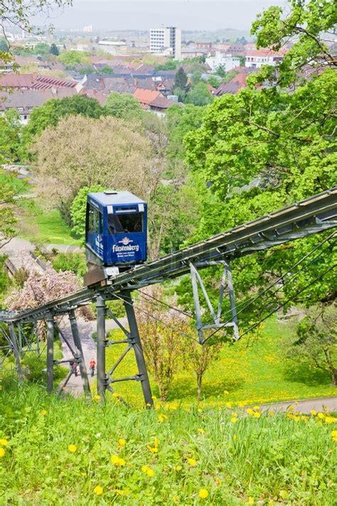garten coop freiburg freiburg germany may 5 2013 the schlossbergbahn