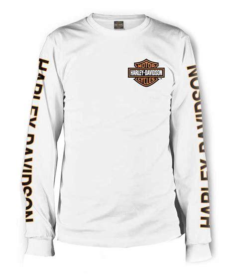 T Shirt Longsleeve Harley Davidson harley davidson s sleeve orange bar shield