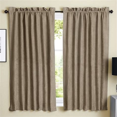 Blazing Needles 63 Inch Blackout Curtain Panels In Java
