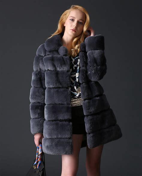 Rex Coat real fur coats jackets rex rabbit fur coat sku