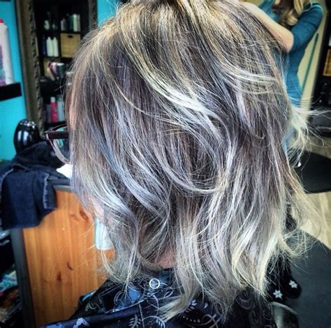 low highlights againt grey hair gray hair on pinterest grey hair silver hair and long