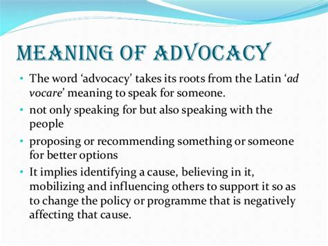 Or Meaning Essential Elements Of Advocacy