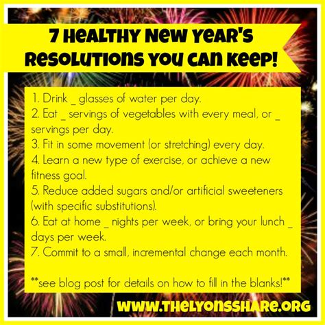 7 New Years Resolutions I Now To Keep by 7 Healthy New Year S Resolutions You Can Keep