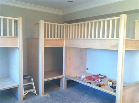 built in bunk bed plans best 25 built in bunks ideas on pinterest