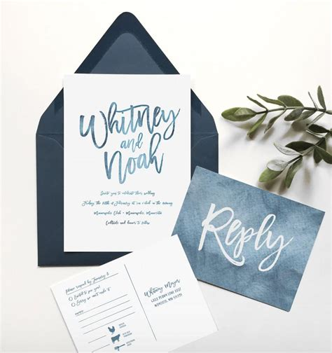 Wedding Invitations Navy Blue by Blue Wedding Invitation Navy Blue Wedding Invitation