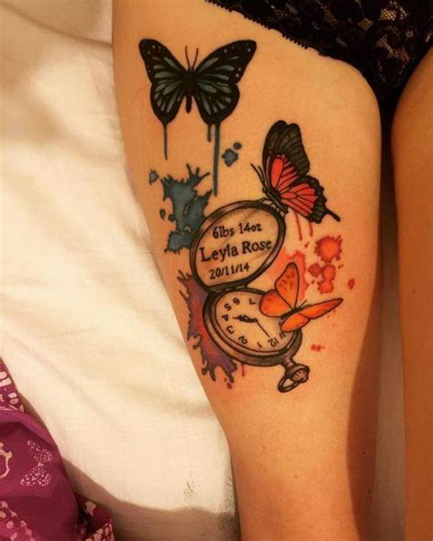 butterfly thigh tattoos 90 butterfly tattoos helping you undergo changes in your