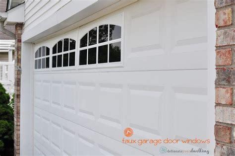 faux garage door windows for the home