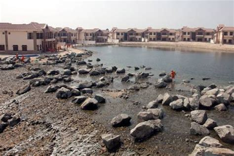 Palm Island Sinking by More Signs Of Dubai S Foul Ecology At Jumeirah Islands