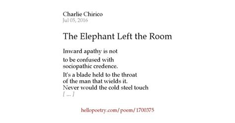 There Is An Elephant In The Room Poem by The Elephant Left The Room By Chirico Hello Poetry