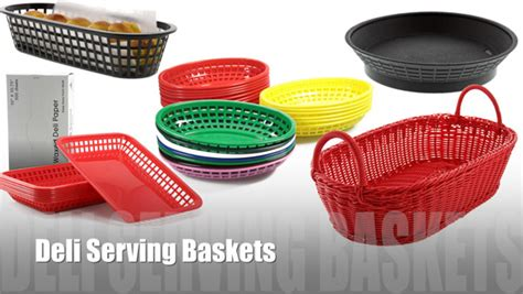 plastic diner deli baskets and liners